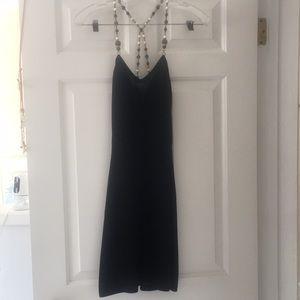 Coviello Erickson Black Coctl Dress jeweled straps